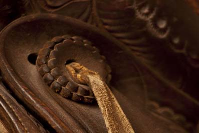 Antique saddle detail.