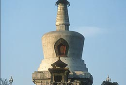 The dagoba at Beihai Park, Beijing, China.
