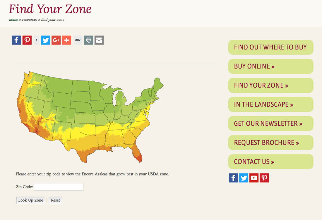 Encore Azalea gardening zones