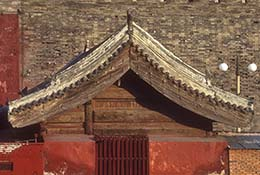 Roof detail in the Forbidden City, Beijing, China.