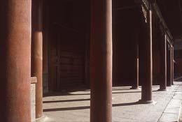 Columns in the Forbidden City, Beijing, China.