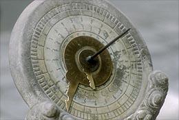 Stone sundial at the Forbidden City, Beijing, China.