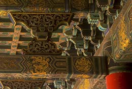 Ceiling, Forbidden City, Beijing, China.