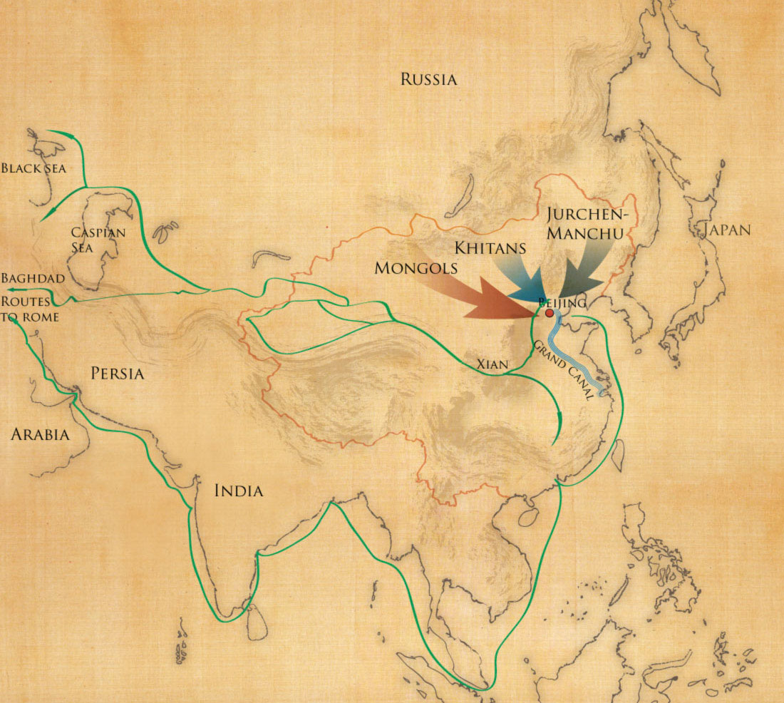 Northern Invasions of China map