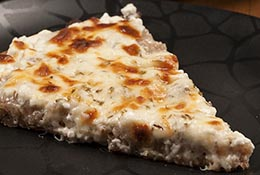 New York white pizza.