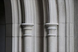 An arch at Duke University, Durham, North Carolina.