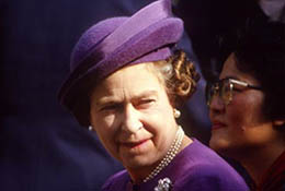 Queen Elizabeth in China.
