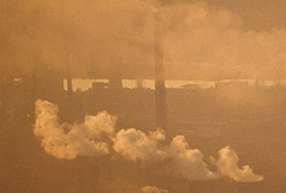 Smokestacks in Benxi, China, one of the world's most polluted cities.