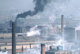 Pollution from factories in Shenyang, China.
