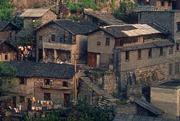 Crowded housing in Chongqing, China.