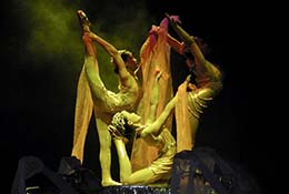 An acrobat show, Beijing, China.