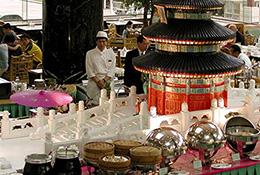 A buffet at the Beijing Hotel, Beijing, China.