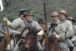 Reenactors at a commemoration of the Battle of Bentonville, North Carolina.