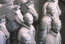 Terracotta warriors, Xian, China.