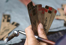A traditional Chinese card game in Chongqing, China.