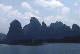 Hills in Guilin, China.