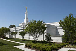 Composite panorama of the Raleigh, North Carolina, Mormon temple.