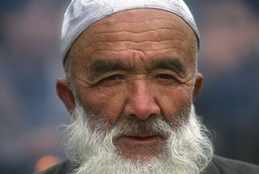 Muslim man in Beijing, China.