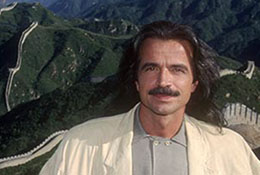 The musician Yanni at the Great Wall near Beijing, China.