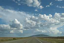 Clouds and a road, Colorado.