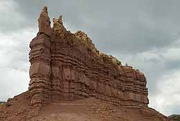 Rock formation in New Mexico.