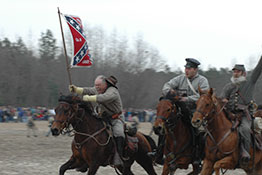 Civil War reenactors at Bentonville, North Carolina.