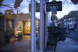 An art gallery in Charleston, South Carolina, with art reflecting local history.