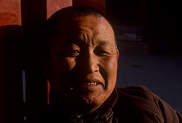 Chinese monk at the Lama Temple, Beijing, China.