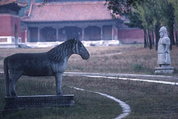 Spirit way statues at the eastern Qing Tombs, east of Beijing, China.