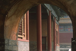 Gate in the Forbidden City, Beijing, China.