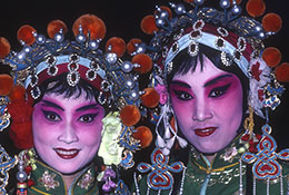 Two Peking opera actors, Beijing, China.
