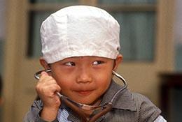 Children at a kindergarten, Beijing, China.