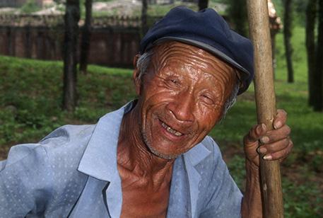 Farmer near Beijing, China.