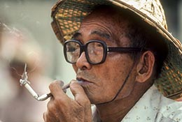 Man smoking, Taiwan.