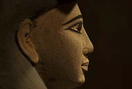 Egyptian statue, Metropolitan Museum of Art, New York City, New York.