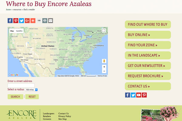 Encore Azalea retail locator