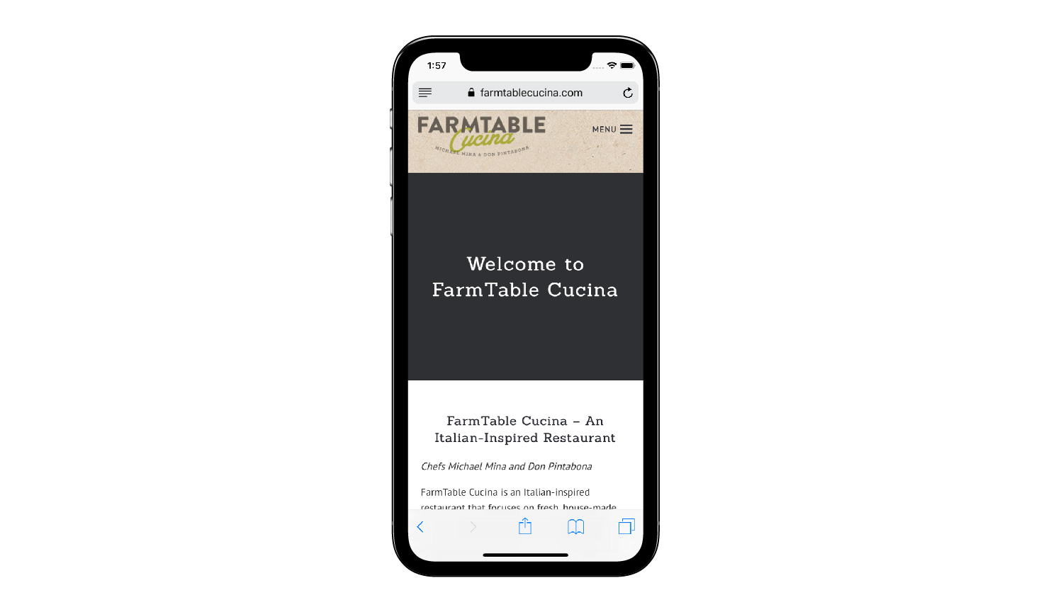 Farm Table phone view