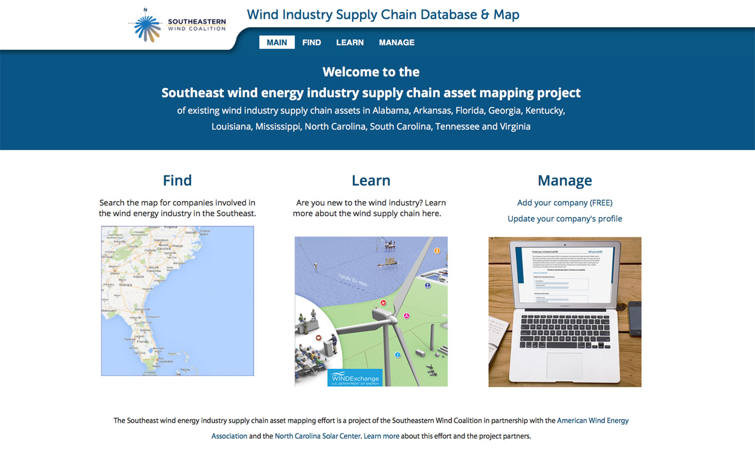 Wind Industry Supply Chain Database and Map