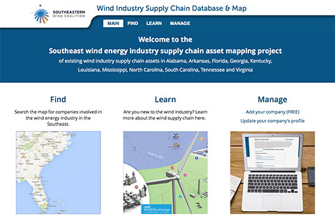 Wind Supply Chain Map