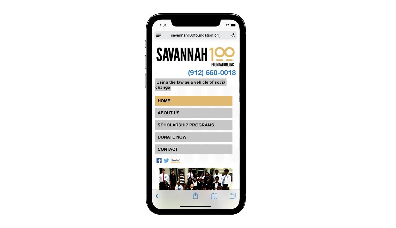 Savannah 100 Foundation phone view