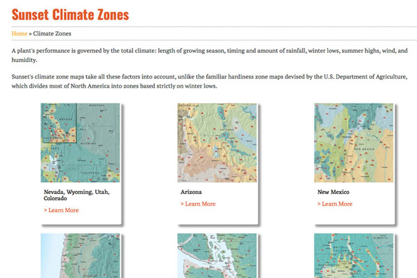 Sunset Climate Zone infographic