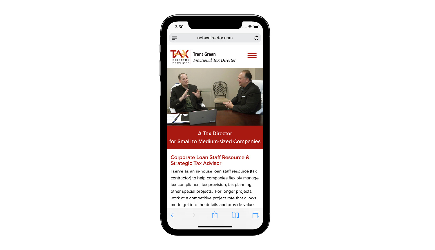 Tax Director Services phone view