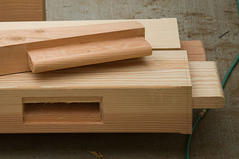 Mortise and Tenon Timbers